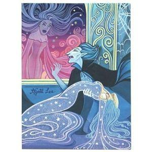 New Vampire ghost witch illustration art print